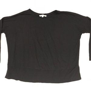 LOFT Womens  Size L Black Blouse